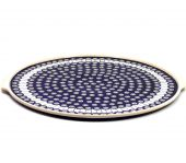 Pizza plate - Polish pottery