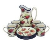 Set for beverages - Polish pottery