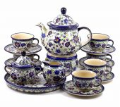 Coffe,Tea set large - Polish pottery