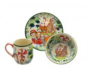 Childrens set - Polish pottery