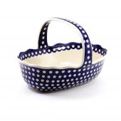 Egg basket - Polish pottery