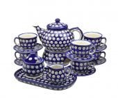 Coffee,Tea set large - Polish pottery